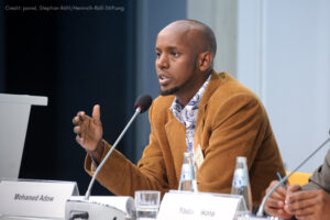 Mohamed Adow speaking at COP17 in Durban, South Africa, 2011.
